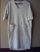 Dresowa limonkowa sukienka