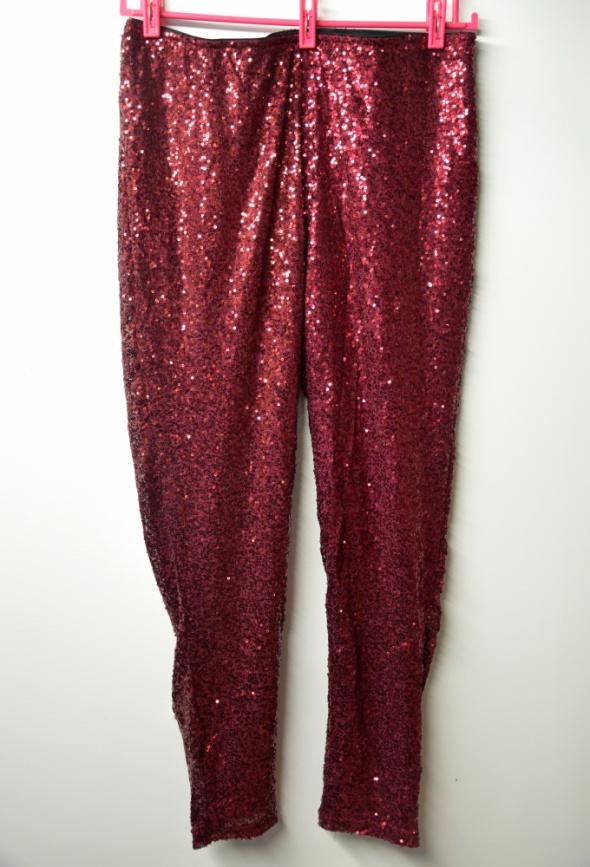 Cekinowe legginy spodnie