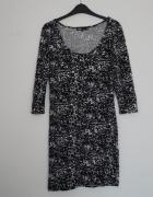 Granatowa prosta sukienka Cubus rozmiar M...