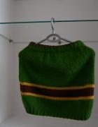 Wełniana zielona mini...