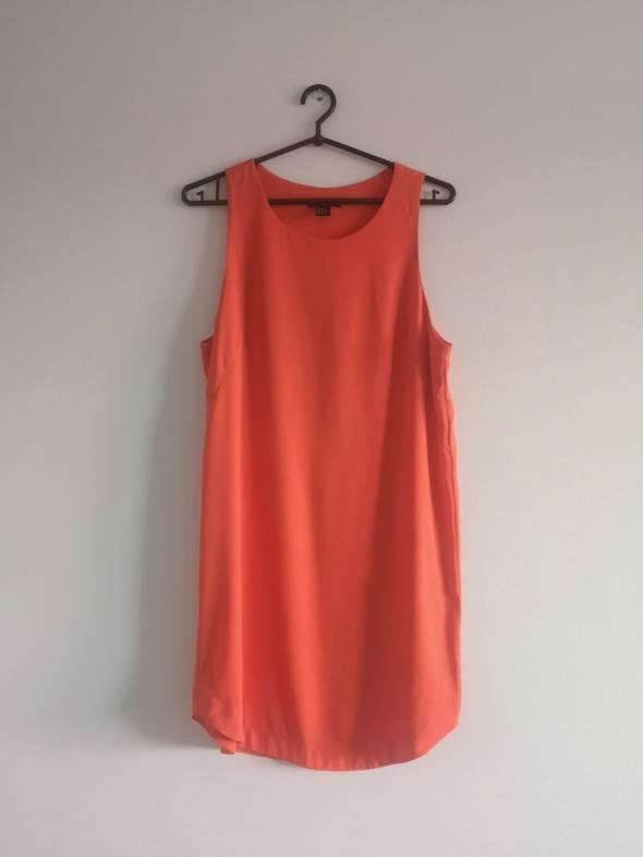 pomarańczowa sukienka S M L boho H&M oversize basic...