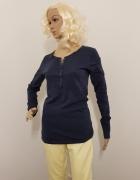 Granatowa bluzka koszulka na długi rękaw...