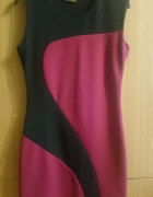 Sukienka czarno amarantowa rozmiar 38...