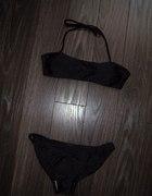 H&M świetny czarny solidny strój kąpielowy