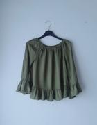 Zielona bluzka hiszpanka H&M S...