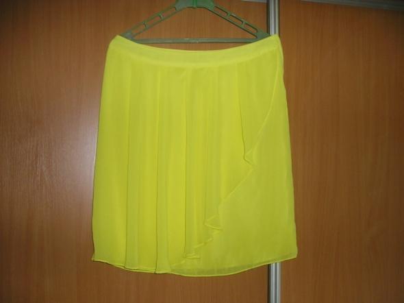 Spódnice spódnica żółta mgiełka 42 44 H&M nowa