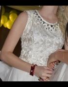 Sukienka na Studniówkę w kolorze ecri...