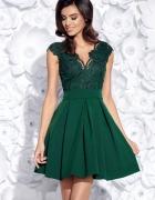Urocza sukienka koronka 34 36 38 40 42 44 46 48 zielona...