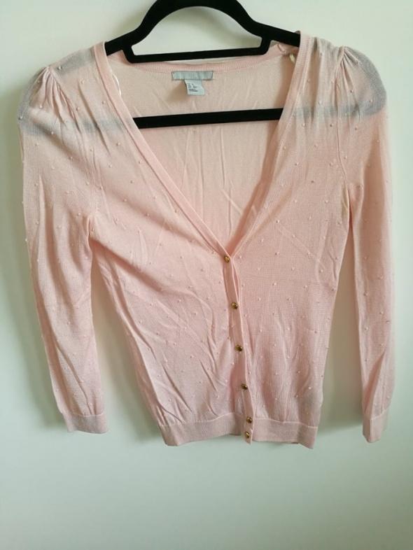 Cienki różowy sweterek XS H&M