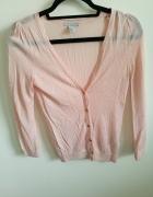 Cienki różowy sweterek XS H&M...