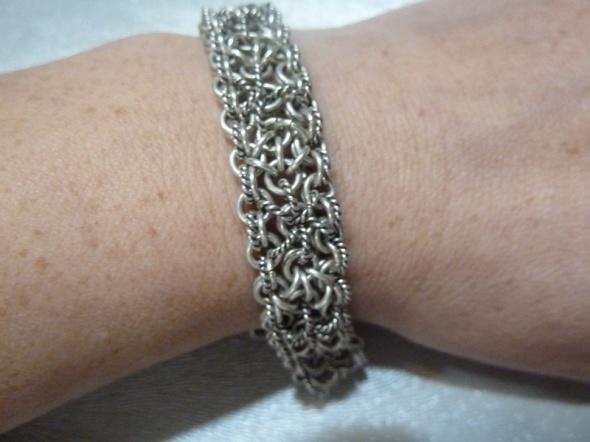 bransoleta srebra cz kompl