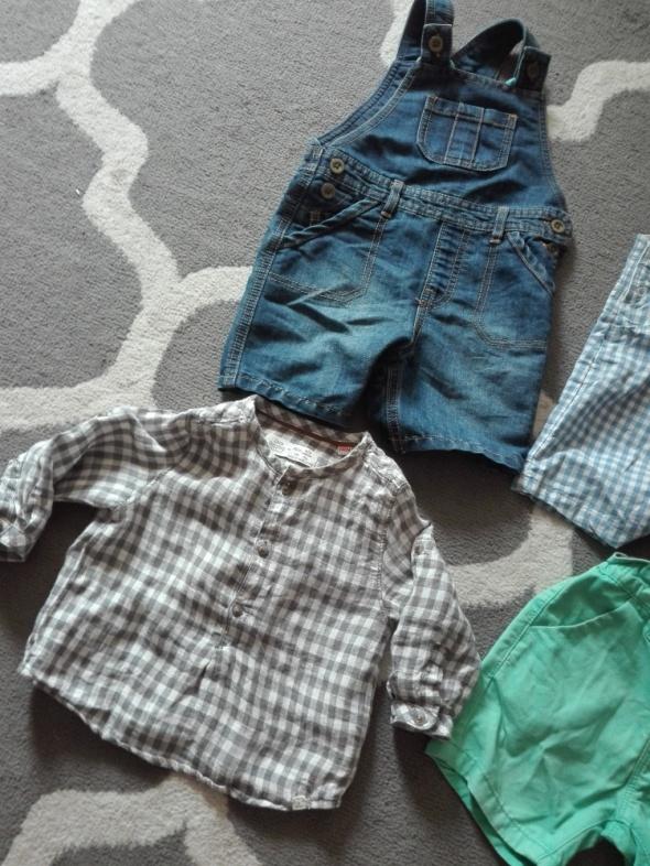 Ogrodniczki spodenki koszula chłopiec