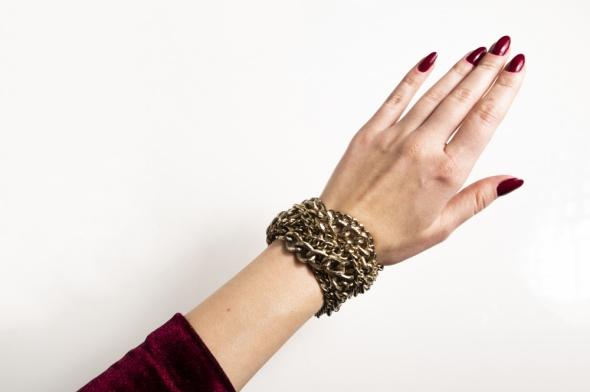 Zara złota bransoletka bransoleta z łańcuchów łańcuchowa