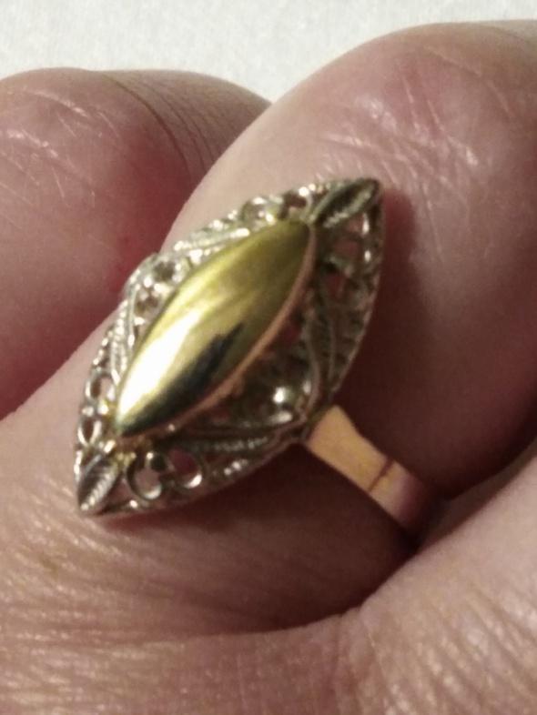 Srebrny złocony...