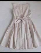 FIGL Sukienka rozkloszowana kontrafałdy S 36 jakość pierwsza...