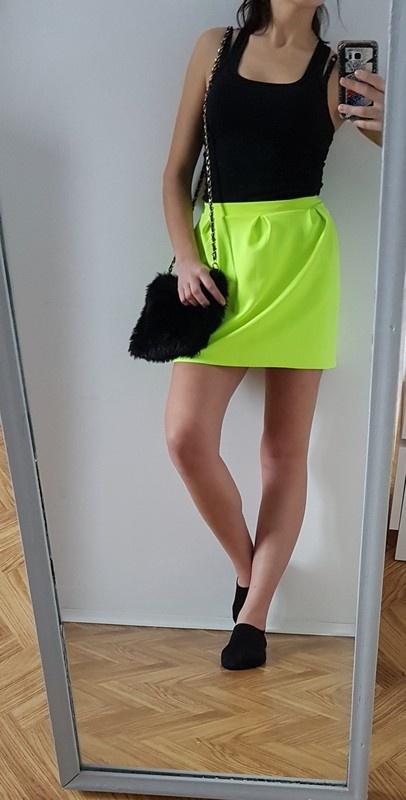 Spódnice Spódnica rozkloszowana neonowa