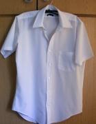 Męska biała klasyczna koszula R M...