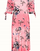 Różowa pastelowa sukienka w kwiaty 38 lub 40...