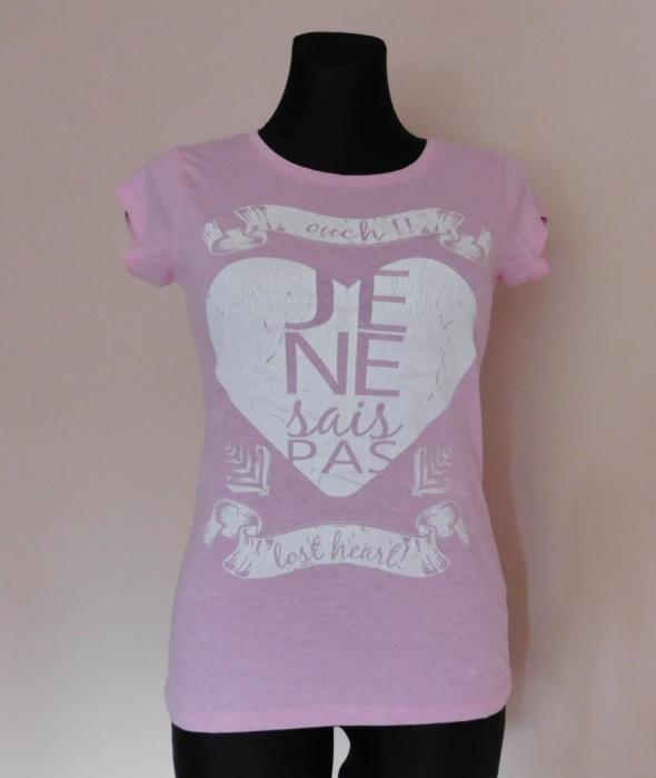 Atmosphere różowa koszulka serce 38 40