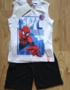 Nowy letni komplet bluzka bez rękawów spodenki Spiderman 98 104...