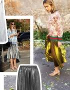 Plisowana metaliczna spódnica midi 3 kolory...