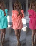 Letnia sukienka odkryte ramiona 3 kolory...