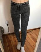 ak nowe szare marmurki H&M spodnie skinny jegginsy S M...
