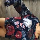 Bluza w kwiaty oversize