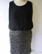 Sukienka Vero Moda Czarna M 38 Cekiny Imprezowa...