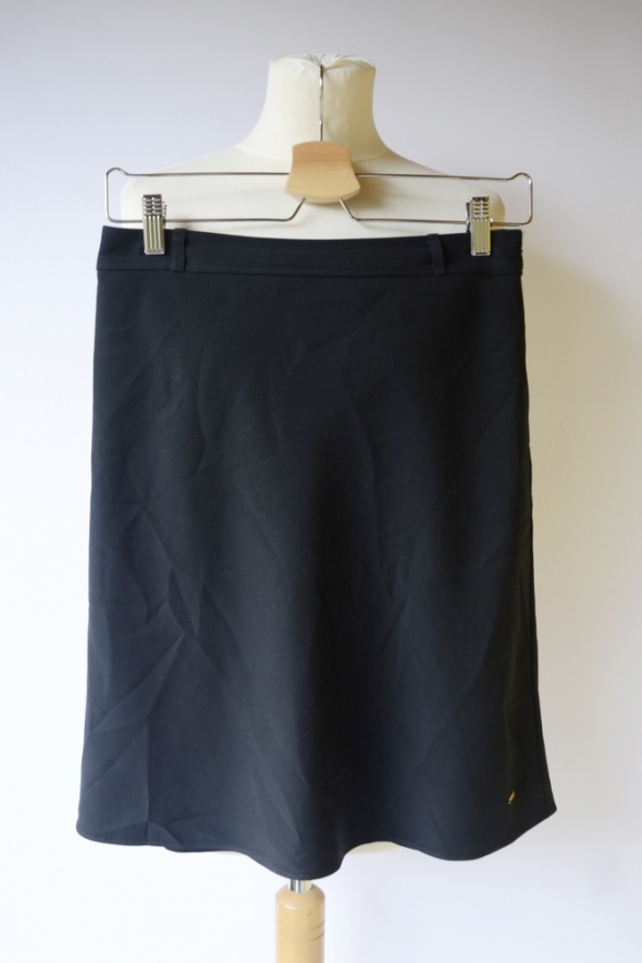 Spódnice Spódniczka Granatowa XS 34 Tommy Hilfiger Elegancka Pracy