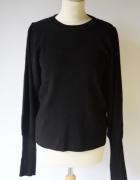 Sweter Czarny Bluzka Gina L 40 Lindex Rozszerzane Rękawy Prążki...