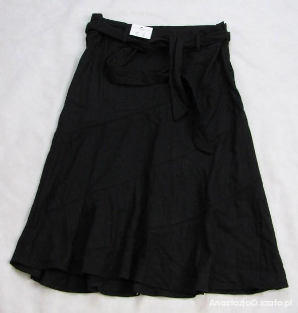 Spódnice NEW LOOK czarna spódnica len NEW M