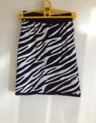 Zebra spódnica zimowa bawełniana elastyczna XS S M...