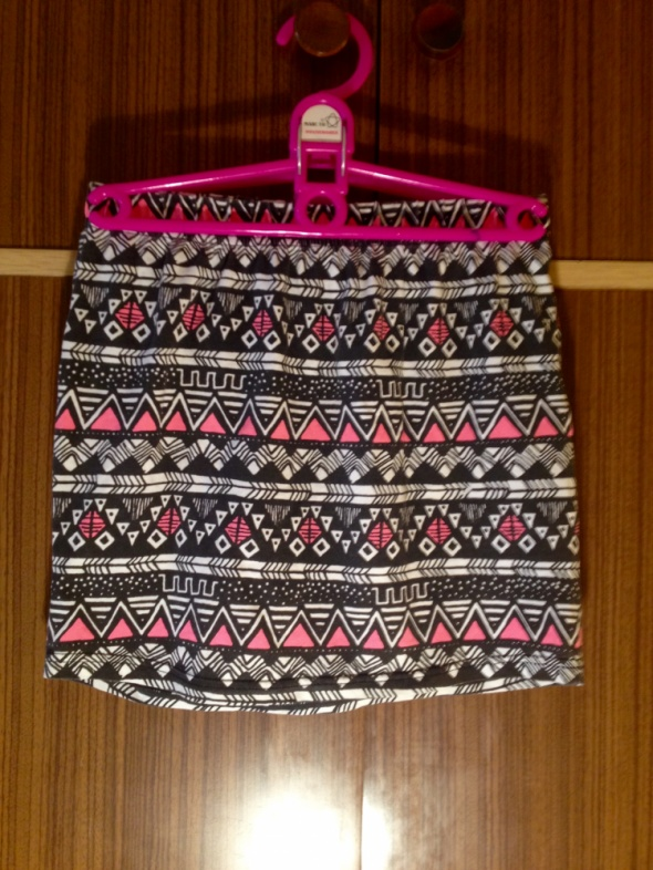 Spódnice Mini etniczne wzory etniczny wzór nadruk spódnica spódniczka obcisła ołówkowa czarne czarna różowe różowa XS S M L 34 36 38 40 nowa super