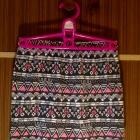 Mini etniczne wzory etniczny wzór nadruk spódnica spódniczka obcisła ołówkowa czarne czarna różowe różowa XS S M L 34 36 38 40 nowa super