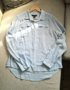 Błękitna koszula oversize...