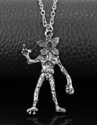 Stranger Things Antyczny srebrny naszyjnik Demogorgon Monster B...