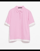 ZARA różowa bluzka POLO rozmiar S...