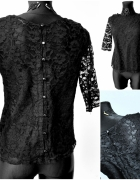 Czarna koronkowa bluzka Innocence S