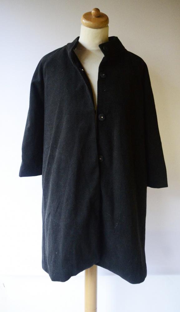 Płaszcz Czarny Rękaw 3 4 Kally&Birger M 38 Elegancki