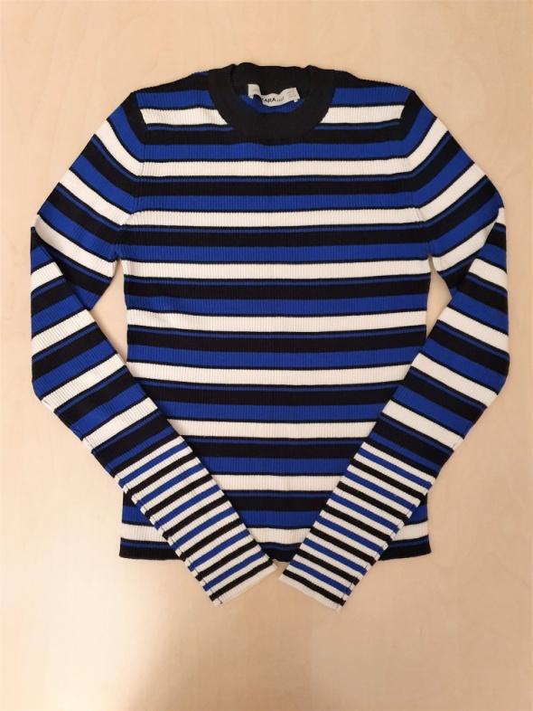 ZARA 36 S sweterek w paski nowy bez metki
