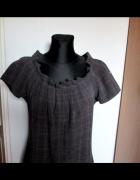 Grey Wolf luźna sukienka w delitakną kratkę zakładki...