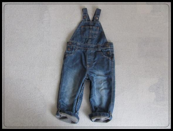 Spodnie ogrodniczki dla chłopca 12 do 18 mies rozmiar ok 86