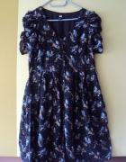Rozpinana sukienka w ptaszki HiM...
