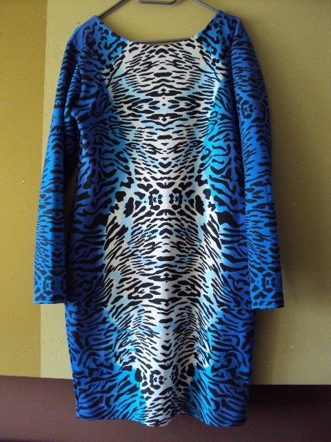 oryginalna sukienka w zwierzęcy wzorek...