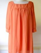 Sukienka Pomarańczowa H&M Oversize XXL 44 Worek...