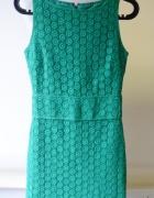 Sukienka Zielona Mango Suit S 36 Koronkowa Elegancka...