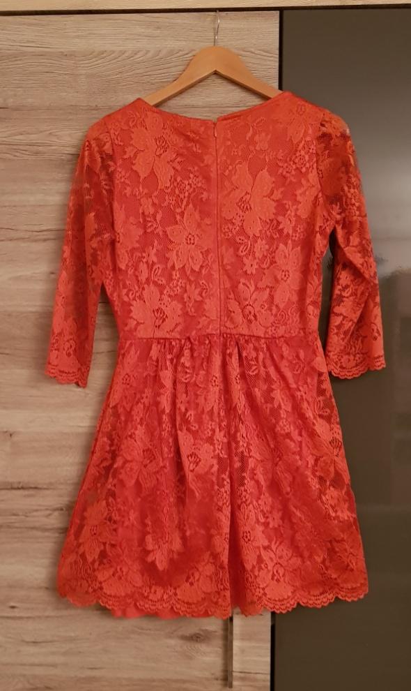 Warehouse sukienka koronka r M wesele pomarańczowa...