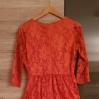 Warehouse sukienka koronka r M wesele pomarańczowa