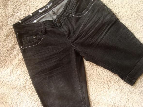 Spodenki Czarne Ciemno Szare Jeansowe Rybaczki S